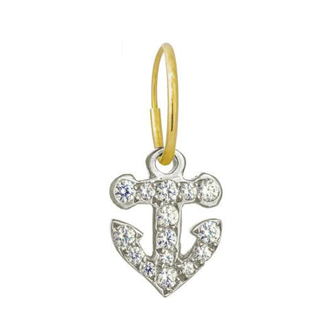 Pavé Anchor Earring-Brevard