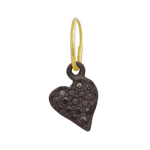 Oxidized Pavé Apollo Heart Earring-Brevard