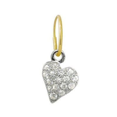 Pave Apollo Heart Earring-Brevard