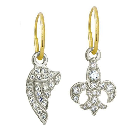tiny earrings products eye horus pair ankh mismatch sterling earring brevard mismatched pave
