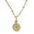 Gold Diamond Pavé Fossil Pendant Necklace-Brevard