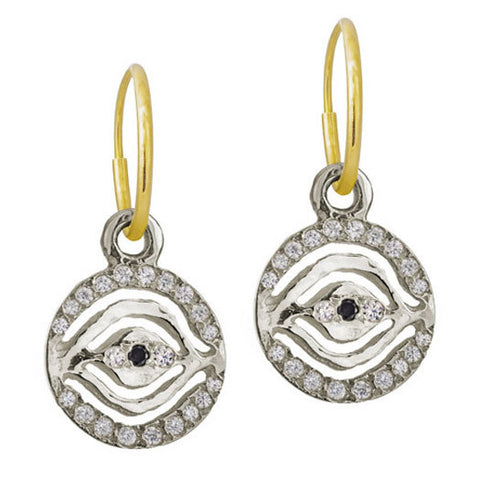 Pavé Eye of Horus Earring-Brevard