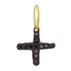 Black Diamond Pavé Jachin Cross Earring-Brevard
