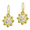 Gold Pavé Medium Sun • Endless Hoop Charm Earring-Brevard