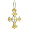 Gold Pavé Peace Cross Earring-Brevard