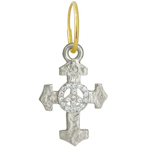 Pavé Peace Cross Earring-Brevard