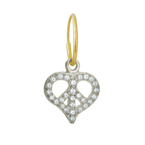 Pavé Peace Love Earring-Brevard