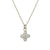 Pavé Tiny Signature Cross Charm Necklace-Brevard