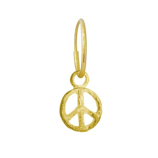 Gold Peace • Endless Hoop Charm Earring-Brevard