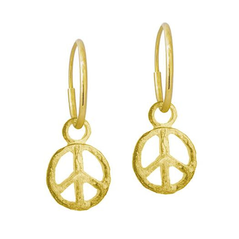 Gold Peace Earring-Brevard