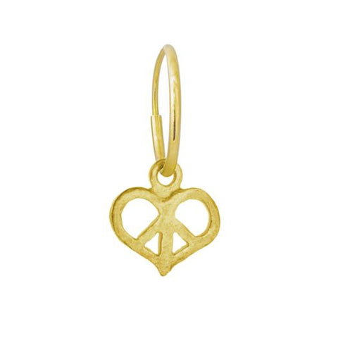 Gold Peace Love Earring-Brevard