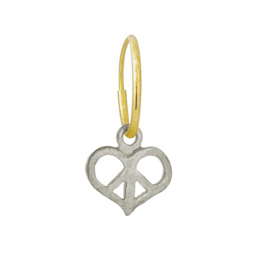 Peace Love • Endless Hoop Charm Earring-Brevard