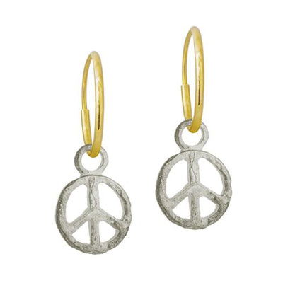 Peace • Endless Hoop Charm Earring-Brevard