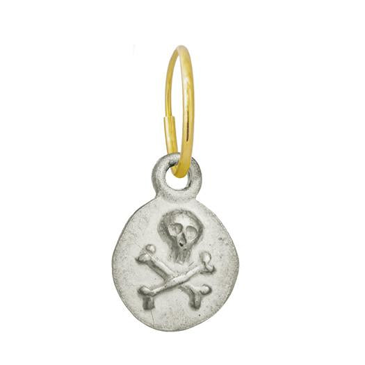 Pirate Coin • Endless Hoop Charm Earring-Brevard