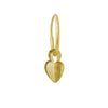 Gold Plumb Heart • Endless Hoop Charm Earring-Brevard
