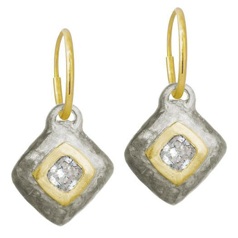 Two-Tone Roma Diamond Earring-Brevard