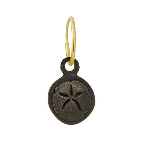 Oxidized Carrillo Sand Dollar Earring-Brevard