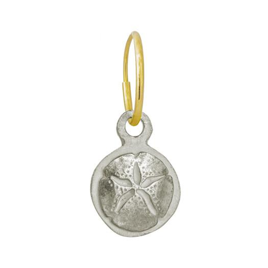 Carrillo Sand Dollar • Endless Hoop Charm Earring-Brevard