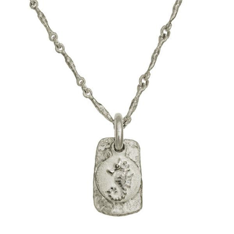 Avalon Seahorse Layered Tablet Necklace-Brevard
