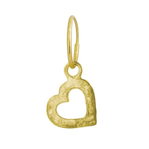 Gold Small Compass Heart Earring-Brevard