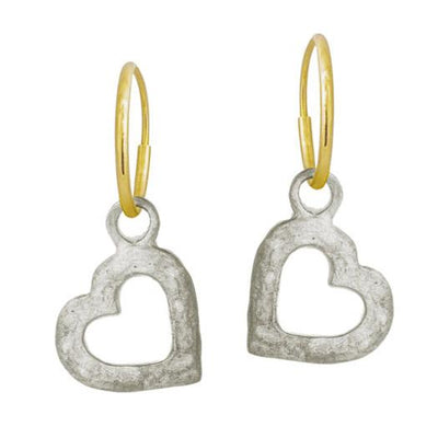 Small Compass Heart Earring-Brevard
