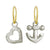 Anchor with Small Compass Heart • Mismatch Endless Hoop Charm Earring Pair-Brevard