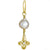 Gold Sprint with Baroque Pearl • Endless Hoop Charm Earring-Brevard