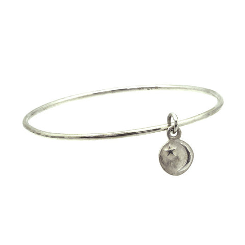 Star + Crescent Charm Bangle-Brevard