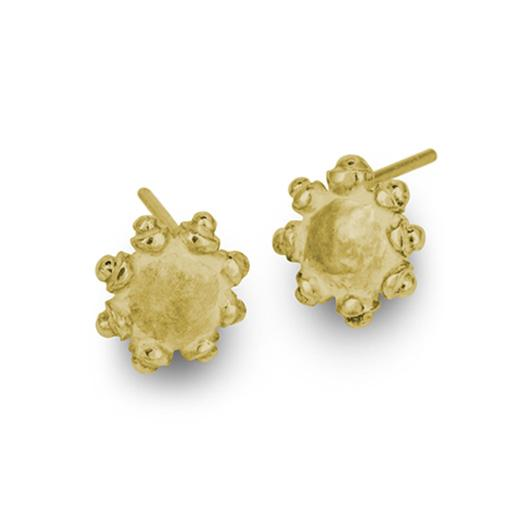 Gold Tiny Sun Stud Earring-Brevard