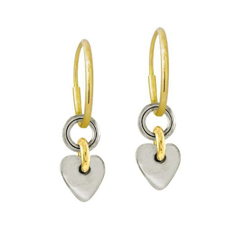 Two-Tone Thunderheart Earring-Brevard