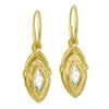 Gold Tillandsia Earring • Endless Hoop Charm Earring-Brevard