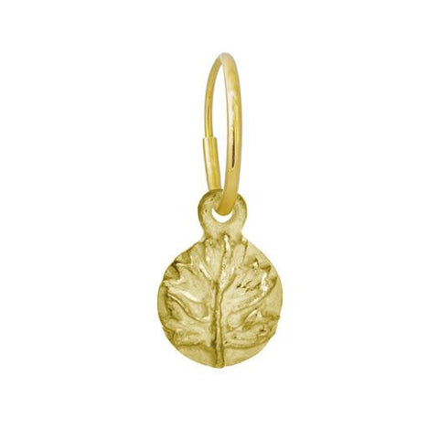 Gold Tiny Acanthus Earring-Brevard