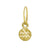 Gold Tiny Aquarius • Endless Hoop Charm Earring-Brevard