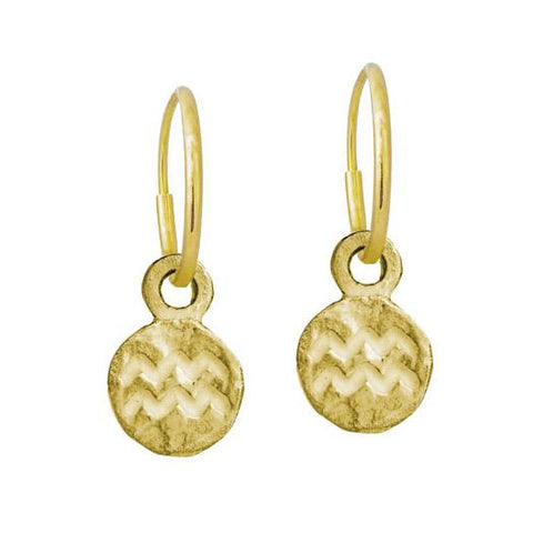 Gold Tiny Aquarius Earring-Brevard