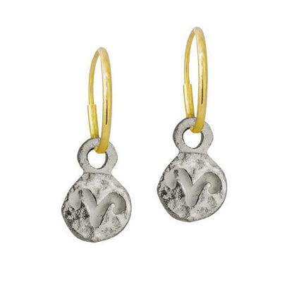 Tiny Aries • Endless Hoop Charm Earring-Brevard