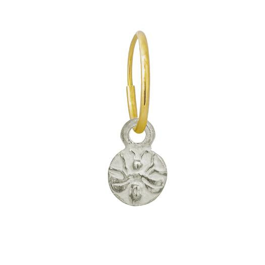 Baby Bee • Endless Hoop Charm Earring-Brevard