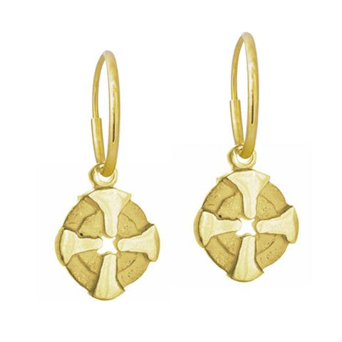 Gold Tiny Bismarkia Earring-Brevard