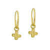 Gold Tiny Center Cross • Endless Hoop Charm Earring-Brevard