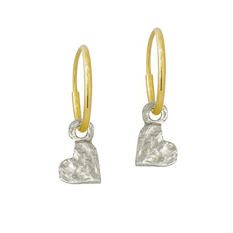 Tiny Center Heart Earring-Brevard