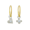Tiny Center Heart + Cross with Stone Mismatch Earring Pair-Brevard