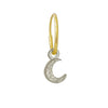 Tiny Center Moon • Endless Hoop Charm Earring-Brevard