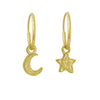Gold Tiny Center Star + Moon Mismatch Earring Pair-Brevard