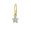 Tiny Center Star • Endless Hoop Charm Earring-Brevard