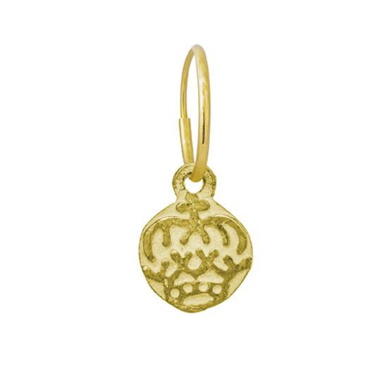 Gold Tiny Renia Coin Earring-Brevard