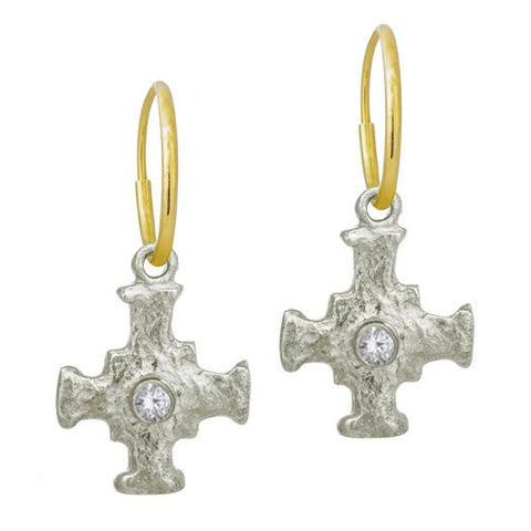 E.T. Cross Earring with Stone-Brevard
