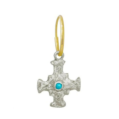 E.T. Cross Earring with Turquoise-Brevard