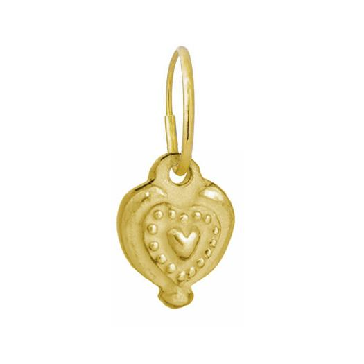 Gold Empire Heart Earring-Brevard