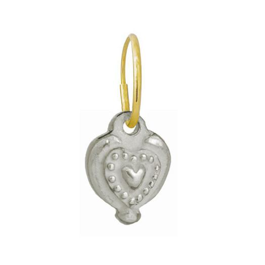 Empire Heart • Endless Hoop Charm Earring-Brevard