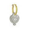 Empire Heart with Stone • Latch Hoop Charm Earring-Brevard