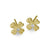 Gold Tiny Flower Stud Earring with Stone-Brevard